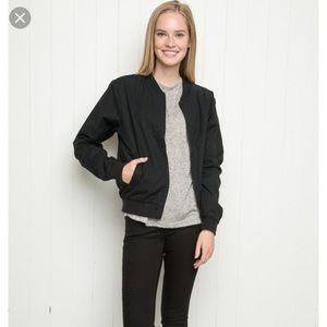 Brandy Melville Kasey Bomber Jacket in Black
